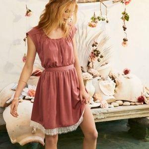 LC Lauren Conrad Pink Silky Dress XL